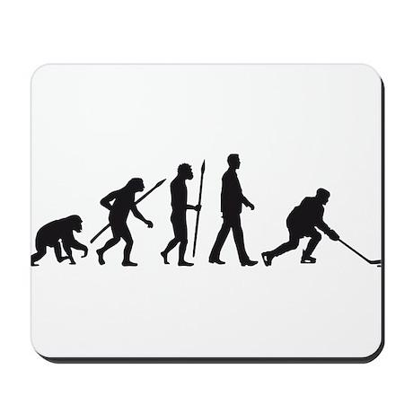 evolution of man hockey player Mousepad