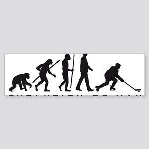 evolution of man hockey player Bumper Sticker