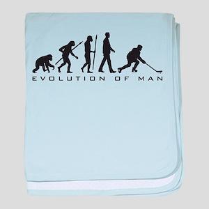 evolution of man hockey player baby blanket