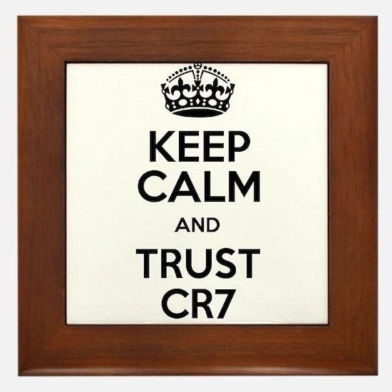 Keep Calm and Trust CR7 Framed Tile