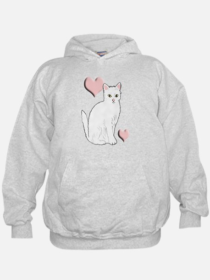 White Kitty Hoodie