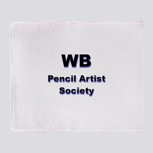 Worlds Best Pencil Artist Society Throw Blanket