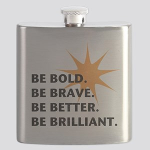 Be Bold Be Brilliant Flask