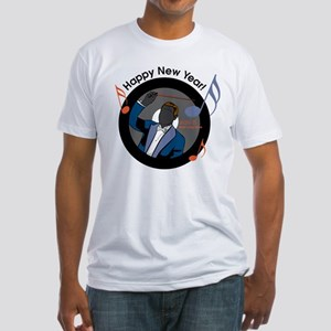 Musical New Year Fitted T-Shirt