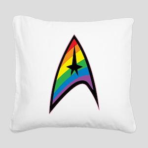 Star Trek LGBTQ Rainbow Square Canvas Pillow