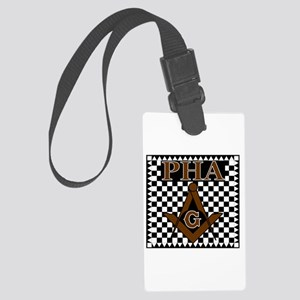 Prince Hall Square and Compass Large Luggage Tag