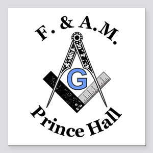 Prince Hall With S And C Square Car Magnet 3""