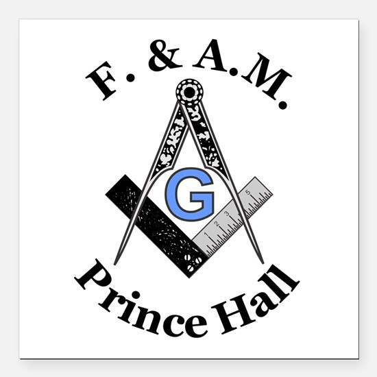 """Prince Hall With S And C Square Car Magnet 3"""""""