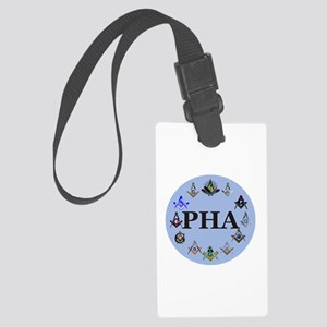 PHA Square and Compass Large Luggage Tag