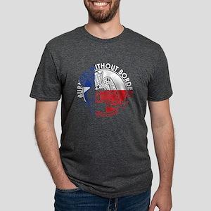 3 Color Logo Mens Tri-Blend T-Shirt
