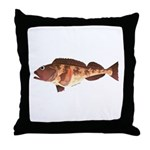 Lingcod fish Throw Pillow