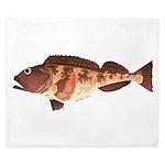 Lingcod fish King Duvet