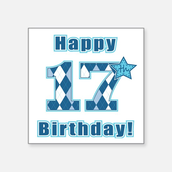 Happy 17th Birthday Sticker