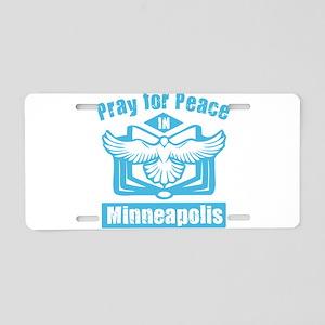 Pray for Minneapolis Aluminum License Plate