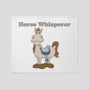 Horse Whisperer Throw Blanket