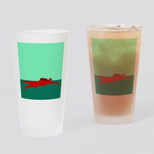 RED SWIMMER Drinking Glass