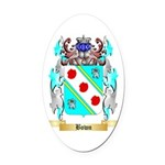 Bown Oval Car Magnet