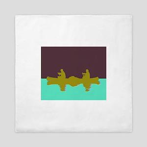 NIGHT SKY CANOE Queen Duvet
