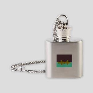 NIGHT SKY CANOE Flask Necklace