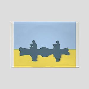 CHALK BLUE SKY CANOE Rectangle Magnet