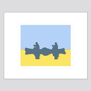 CHALK BLUE SKY CANOE Small Poster