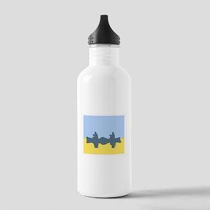 CHALK BLUE SKY CANOE Stainless Water Bottle 1.0L