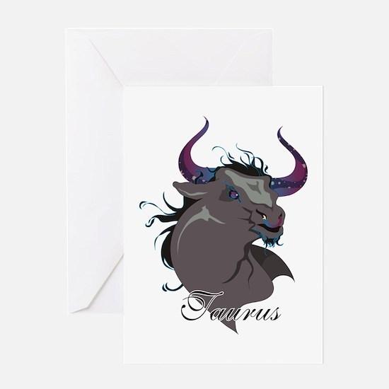 Starlight Taurus Greeting Card