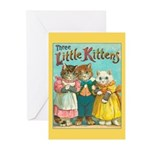 Three Little Kittens Greeting Cards (Pk of 20)