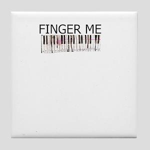 finger me piano Tile Coaster
