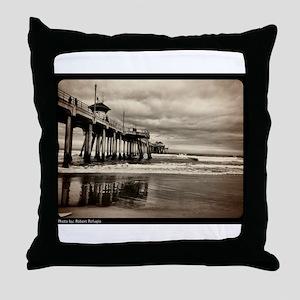 Huntington Beach CA Pier Throw Pillow