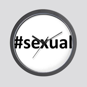 Hashtag #Sexual Wall Clock