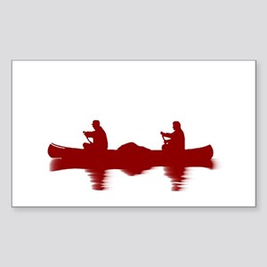 RED CANOE Sticker (Rectangle)
