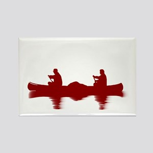 RED CANOE Rectangle Magnet