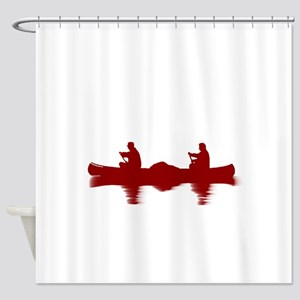RED CANOE Shower Curtain