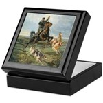 Russian Borzoi Hunt Keepsake Box