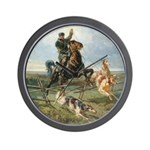 Russian Borzoi Hunt Wall Clock