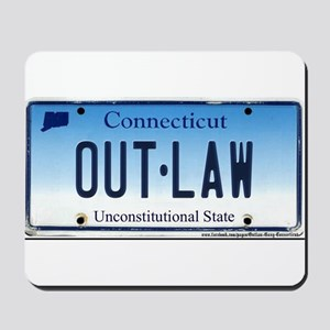 Connecticut Outlaw Plate Mousepad