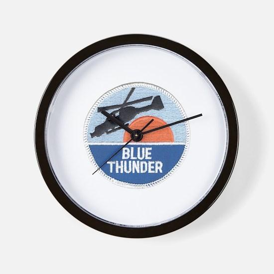Blue Thunder Wall Clock