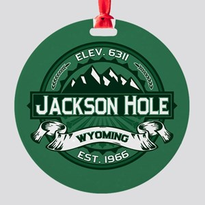 Jackson Hole Forest Round Ornament