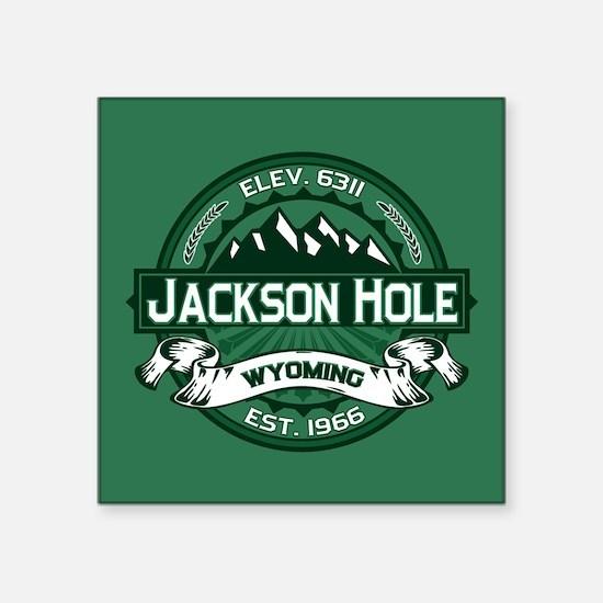 "Jackson Hole Forest Square Sticker 3"" x 3"""