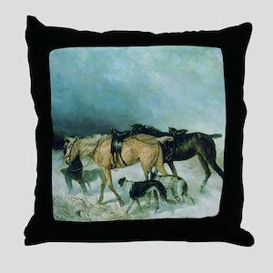 The Storm Borzoi Throw Pillow