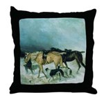 The Storm Borzoi Throw Pillow