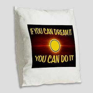 DREAM Burlap Throw Pillow