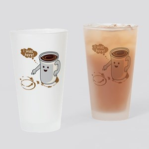 Coffee stain Drinking Glass