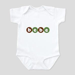 Bébé Infant Bodysuit (Green Circles)