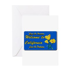 Welcome to California Greeting Card