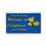 Welcome to California Rectangle Magnet