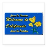 Welcome to California Square Car Magnet 3