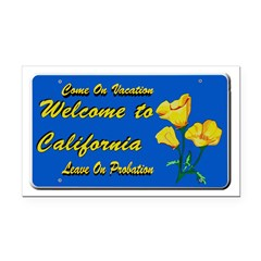 Welcome to California Rectangle Car Magnet
