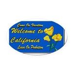 Welcome to California Oval Car Magnet